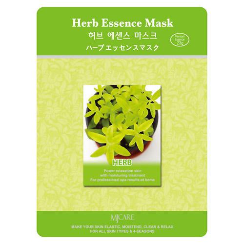 Тканевая маска экстракты трав Herb Essence Mask Mijin 23 г (MjCare)