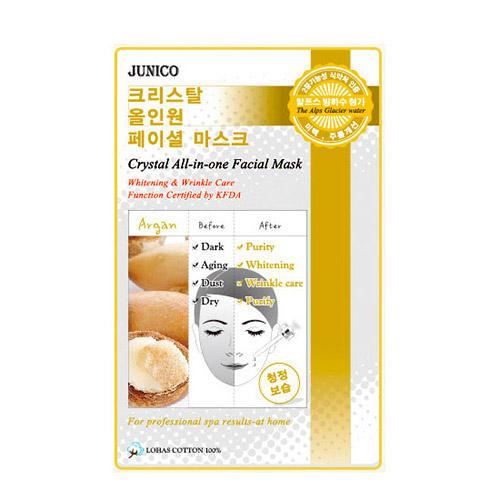 Тканевая маска c аргановым маслом Junico Crystal All-in-one Facial Mask Argan Mijin 25 г (Mijin)