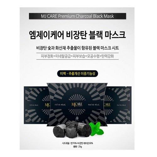 Маска для лица с древесным углем Charcoal black mask, 1 шт (Mijin, Маски) угольная маска от угрей