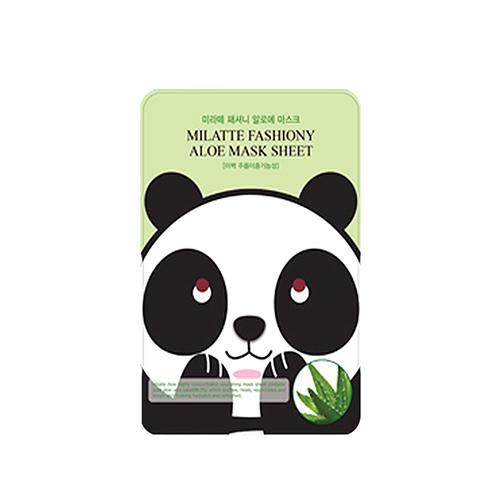 Тканевая маска с экстрактом алое Milatte 21 г (Milatte, Mask sheet Milatte) маска для глаз milatte fashiony black eye mask raccoon объем 10 г