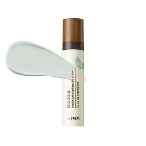 База под макияж Real Fit Makeup Base 01 Green, 40 мл (The Saem, Eco Soul) база под макияж the saem saemmul aqua glow cushion spf50 pa 01