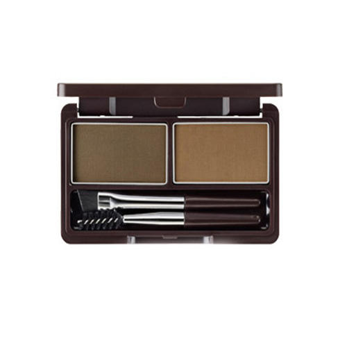 Набор для макияжа бровей Multi Brow Kit 01 Natural Brown, 3,8 г (The Saem, Eco Soul) пигментная пудра для бровей the saem eco soul eyebrow kit page 8 page 5