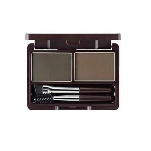 Набор для макияжа бровей Multi Brow Kit 02 Gray Brown, 3,8 г (The Saem, Eco Soul) пигментная пудра для бровей the saem eco soul eyebrow kit page 8 page 5