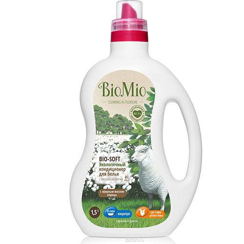 Кондиционер для белья с эфирным маслом Корицы, 1500 мл (BioMio, Стирка) кондиционер для белья экологичный bio mio концентрат bio soft с эфирным маслом корицы 1 5л