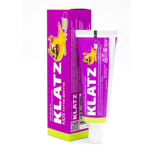 Klatz Зубная паста Тутти-фрутти 48 мл (Klatz, Kids)