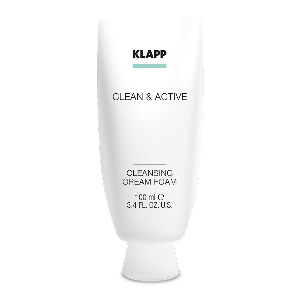 Купить Klapp Очищающая крем-пенка Clean & active Cleansing Cream Foam, 100 мл (Klapp, Clean & active), Германия