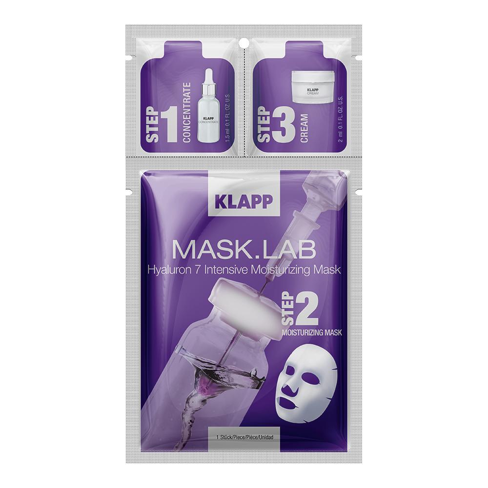 Купить Klapp 3-х компонентный набор: концентрат, маска, крем 1 шт (Klapp, Mask.Lab), Германия