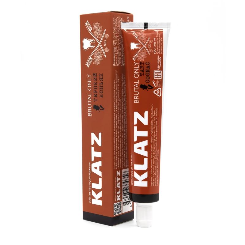 Klatz Зубная паста для мужчин Терпкий коньяк 75 мл (Klatz, Brutal only)
