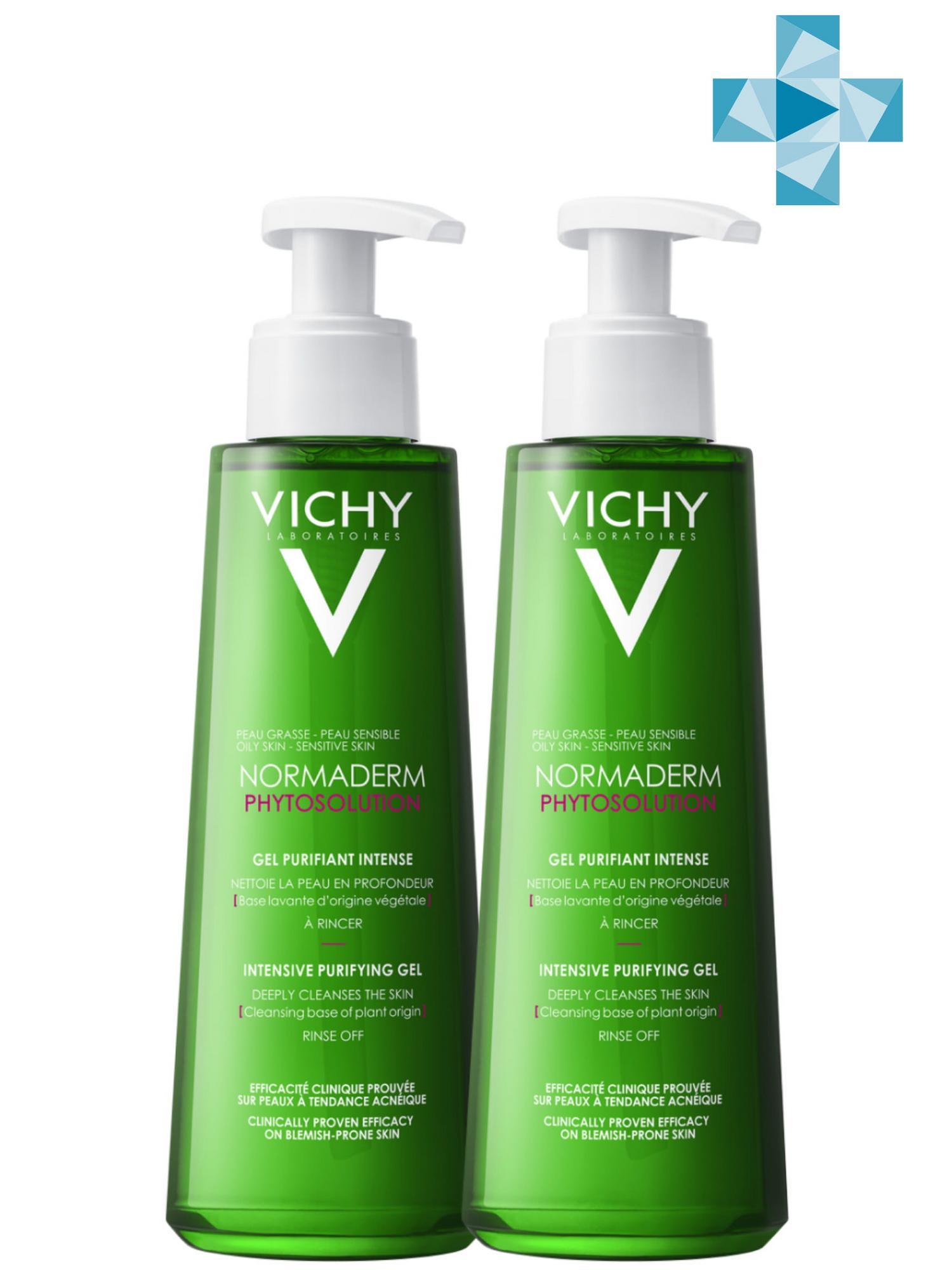 Купить Vichy Комплект Нормадерм Фитосолюшн Очищающий гель для умывания, 2 шт. по 200 мл (Vichy, Normaderm), Франция
