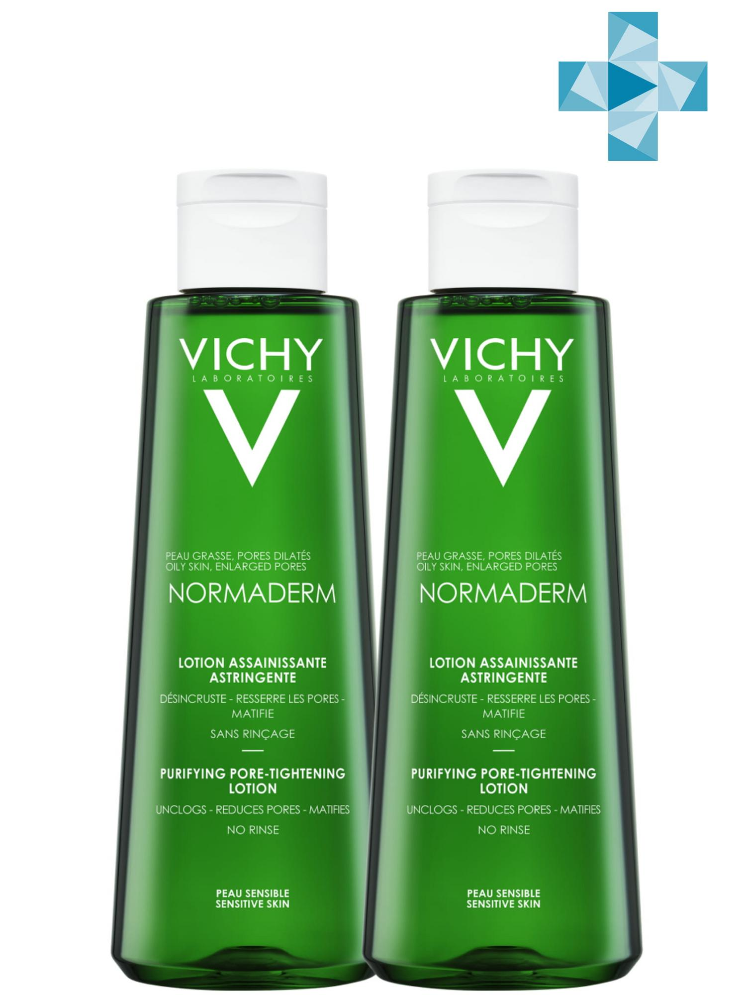Купить Vichy Комплект Нормадерм Лосьон Тоник, сужающий поры, 2х200 мл (Vichy, Normaderm), Франция