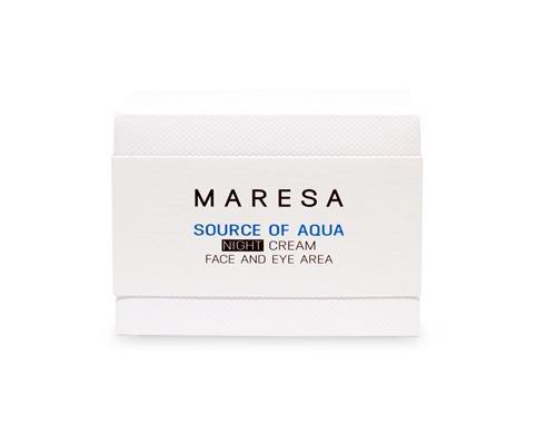 Купить Maresa Увлажняющий ночной крем с гиалуроновой кислотой NIGHT CREAM (Maresa, SOURCE OF AQUA), https://www.pharmacosmetica.ru/files/pharmacosmetica/reg_images/krem-nochnoy-korobka-.jpg