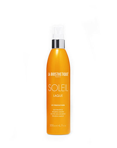 Неаэрозольный лак для волос с водостойкими УФфильтрами широкого спектра Laque Soleil, 200 мл (LaBiosthetique, Methode Soleil) восстанавливающий кремкондиционер с уфзащитой для поврежденных солнцем волос 125 мл labiosthetique methode soleil