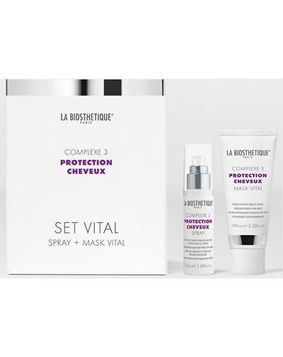 Витализирующий дует с мощным молекулярным комплексом защиты волос Set Vital Complexe 3, 50 мл 100 (LaBiosthetique, Protection Cheveux Complexe) цена