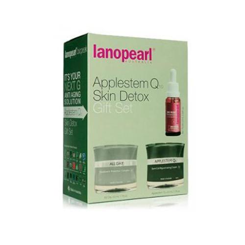 Lanopearl Applestem Q10Skin Detox Набор омоложение кожи (Крем 50 мл + Крем 50 мл + Сыворотка 25 мл) (Lanopearl)
