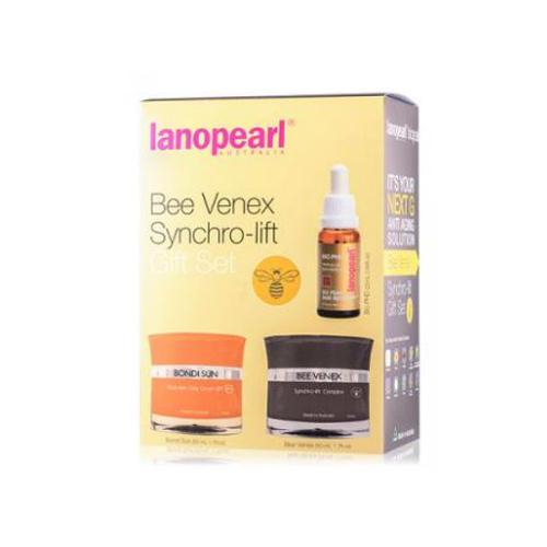 Lanopearl Bee Venex Набор Синхро Лифтинг (Солнцезащитный крем 50 мл + Крем 50 мл + Сыворотка 25 мл) (Lanopearl)