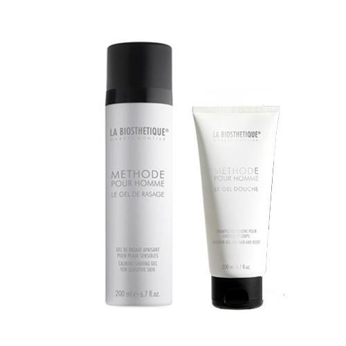 Набор в бархатном подарочном мешке Гладкая мужская кожа (LaBiosthetique, Methode Pour Homme)