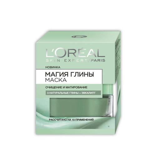 LOreal Маска для лица Магия Глины, с эвкалиптом, 50 мл ()