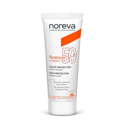 Noreva Норесан Протект Минеральный крем с высокой степенью защиты SPF50 40 мл (Noreva, Noresun) noreva норесан градуал крем с очень высокой степенью защиты spf50 40 мл noreva noresun