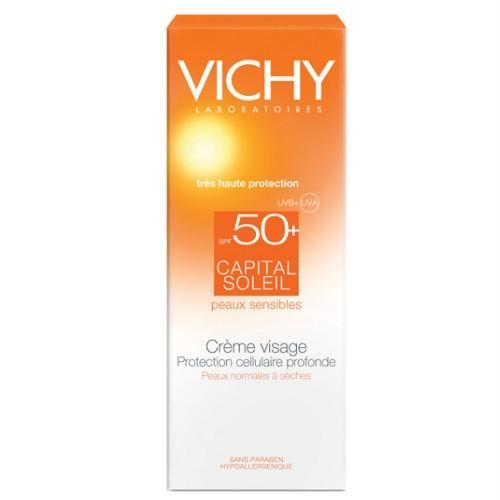 Солнцезащитный крем для лица SPF 50, 30 мл (Vichy, Capital Soleil) кремы baby tan солнцезащитный крем для лица spf 50 uva uvb с маслами какао и оливы