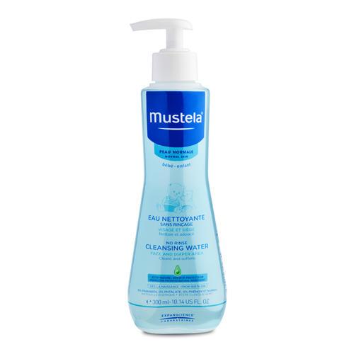 Mustela Очищающая вода для новорожденных и детей, не требует смывания, 300 мл (Mustela, Bebe - ежедневная гигиена)
