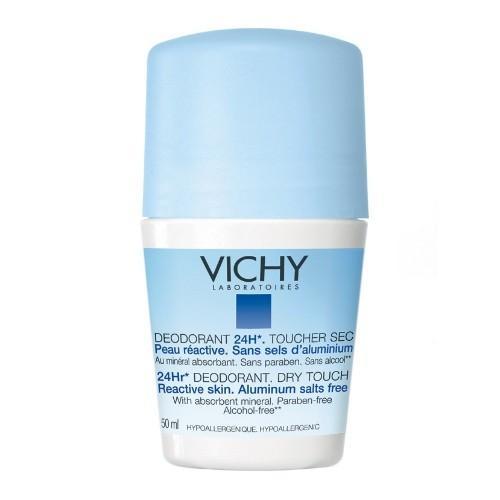 Дезодорантшарик 24 часа для чувствительной кожи 50 мл (Vichy, Deodorant) дезодорант антиперспирант спрей bioderma sensibio 50 мл для чувствительной кожи контроль 24 часа