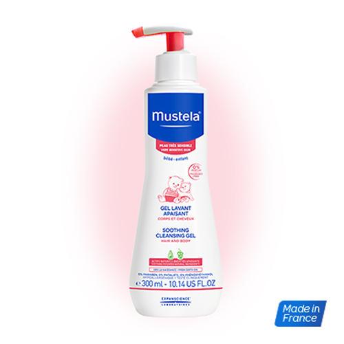 Бебе Гель для купания успокаивающий, 300 мл (Mustela, Very Sensitive Skin) mustela пена для ванны mustela bebe 8700794 200 мл