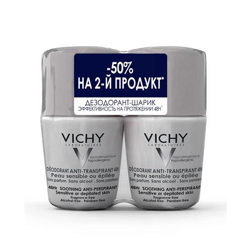 Купить со скидкой Vichy Дуопак Дезодорант 48 ч для чувствительной кожи 50 мл х 2 шт. (Vichy, Deodorant)