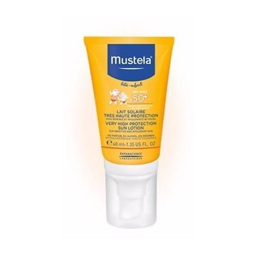 купить Бебе Солнцезащитное молочко SPF 50, 40 мл (Mustela, Sun) недорого