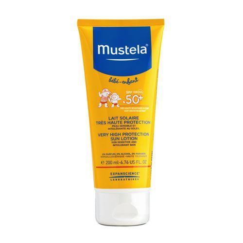 Бебе Солнцезащитное молочко SPF 50, 200 мл (Mustela, Sun) mustela gel lavant doux