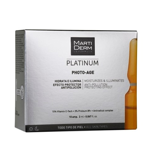 Купить MARTIDERM Платинум Ампулы «Коррекция фотостарения» 10 x 2 мл (MARTIDERM, Platinum)
