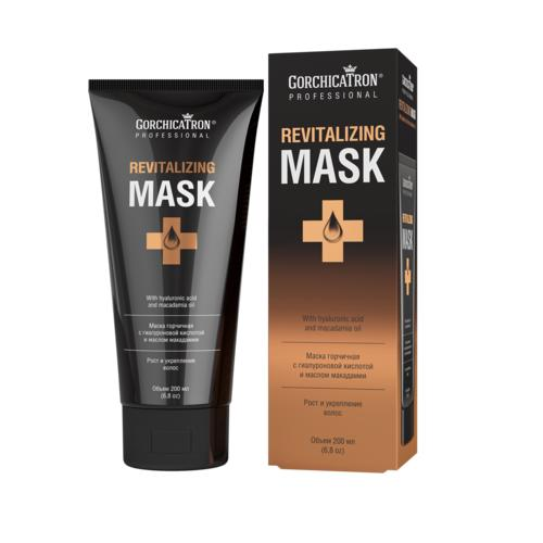 Горчичная маска для роста и укрепления волос с гиалуроновой кислотой и маслом макадамии, 200 мл (Горчицатрон) от Pharmacosmetica