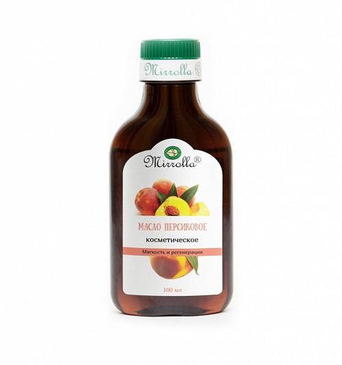 Mirrolla Масло персиковое косметическое 100 мл (Mirrolla, Косметические масла) масло кокоса mirrolla косметическое 25 мл