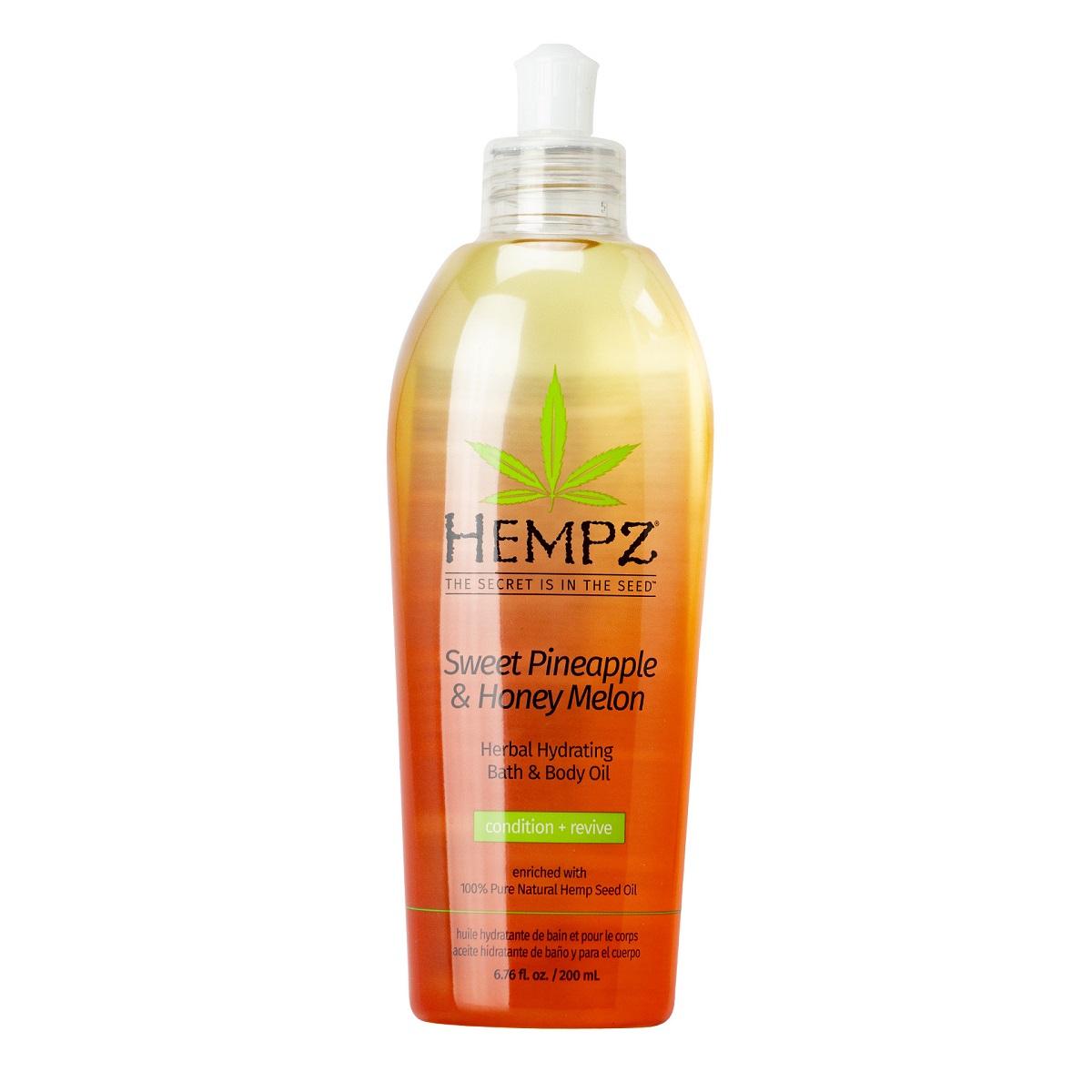 Купить Hempz Масло увлажняющее для ванны и тела Ананас и медовая дыня 200 мл (Hempz, Ананас и медовая дыня), США