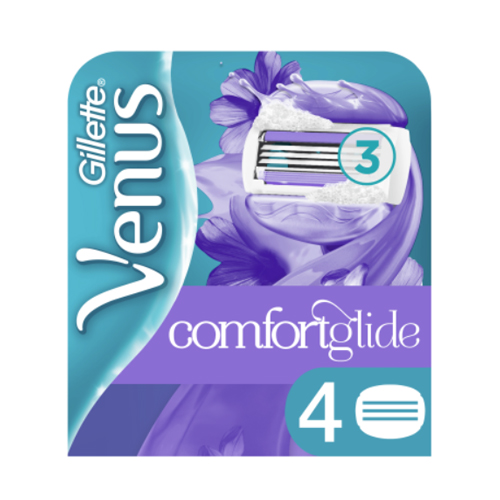 Gillette Cменные картриджи для бритья Venus Breeze cо встроенными подушечками с гелем (4 шт) (Gillette, Бритвы и лезвия) сменные кассеты для бритья gillette venus breeze 4 шт [80244192]