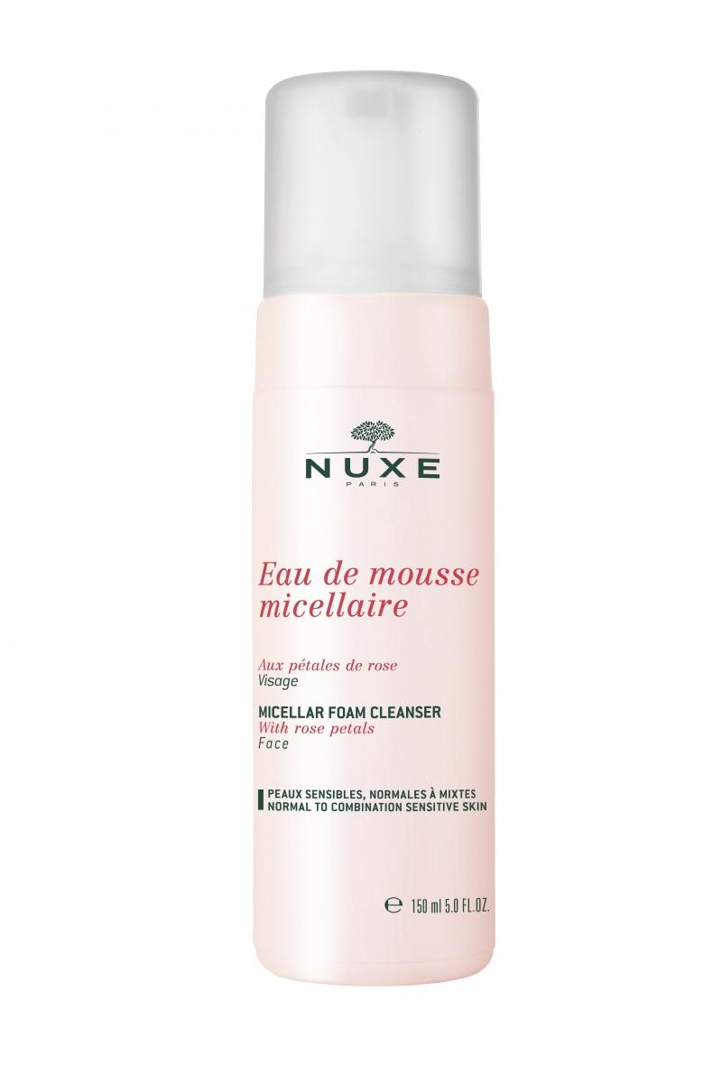 Мицеллярная очищающая пена с лепестками роз 150мл (Nuxe, aux Petales de Rose) nuxe мицеллярная очищающая пена с лепестками роз 150 мл