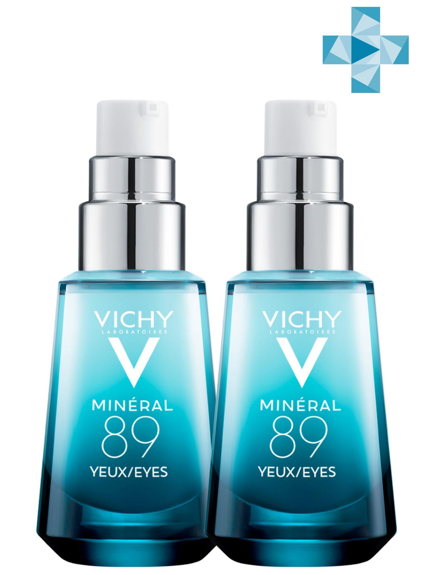 Купить Vichy Комплект Mineral 89 Восстанавливающий и укрепляющий уход для кожи вокруг глаз, 2 шт. по 15 мл (Vichy, Mineral 89), Франция