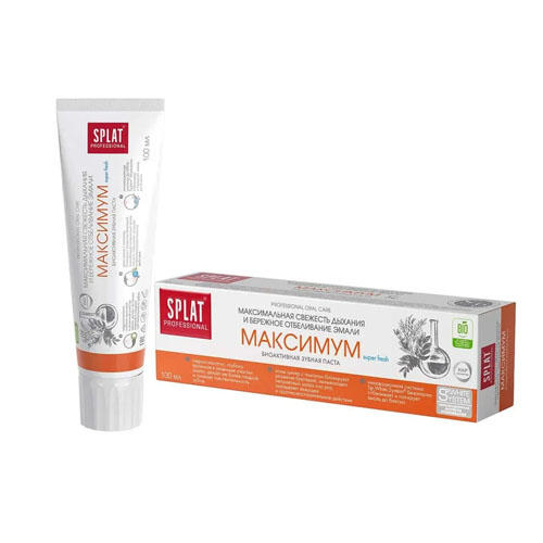 SPLAT Лечебнопрофилактическая профессиональная зубная паста Максимум 100 мл (Splat, Professional) стоимость