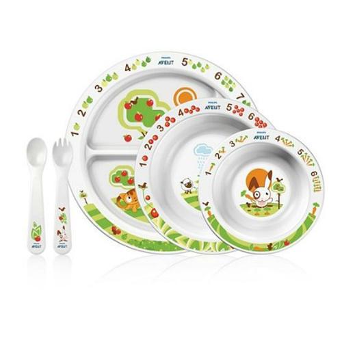 Avent Набор посуды для малыша от 6 месяцев (Детская посуда)