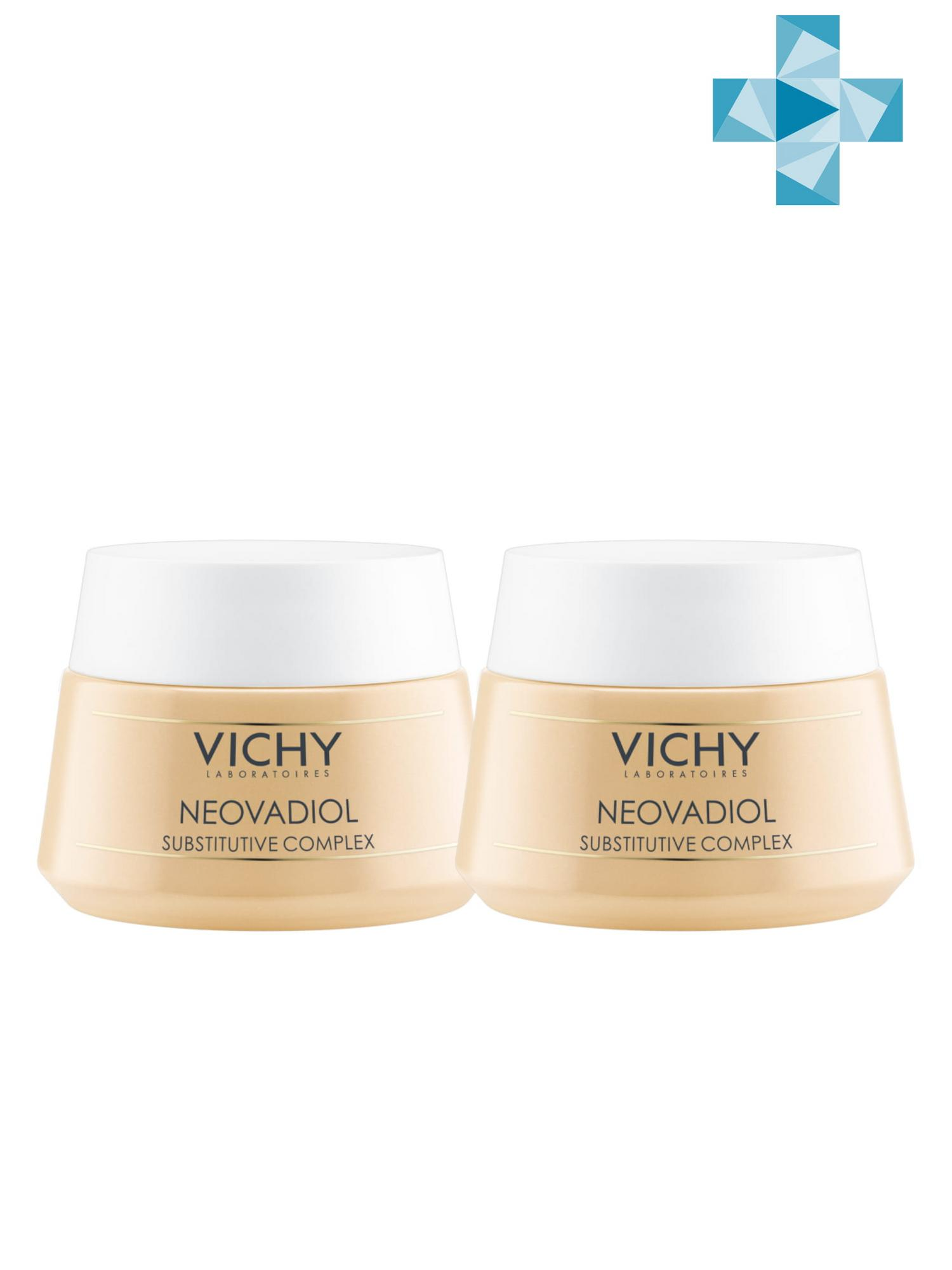 Фото - Vichy Комплект Неовадиол Компенсирующий комплекс для нормальной и комбинированной кожи, 2 шт. по 50 мл (Vichy, Neovadiol) vichy неовадиол компенсирующий комплекс для нормальной и комбинированной кожи 50 мл vichy neovadiol