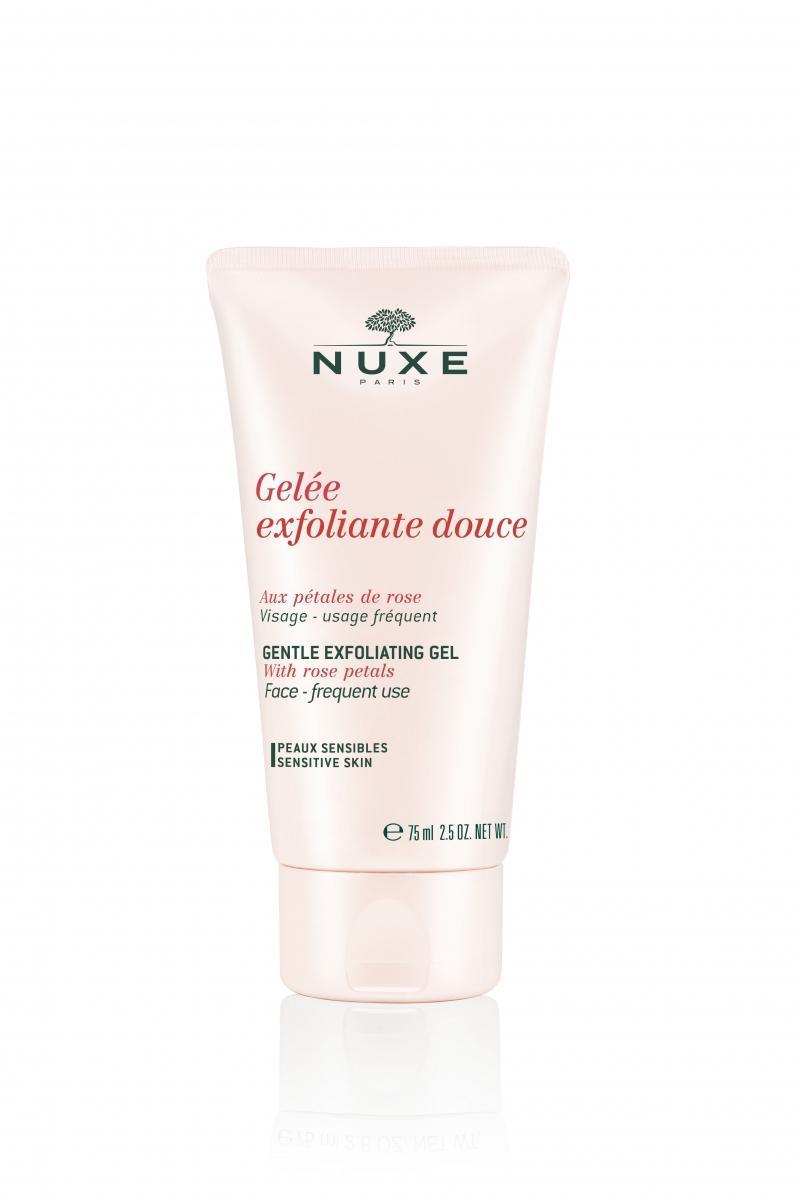 Нежный эксфолиирующий гель с лепестками роз 75мл (Nuxe, aux Petales de Rose) гель для душа nuxe nuxe body 200 мл х 2 нежный с лепестками цветков миндаля и апельсина