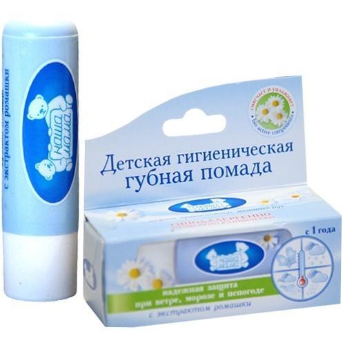 Наша Мама Детская гигиеническая губная помада с экстрактом ромашки 3,5 г (Детям)