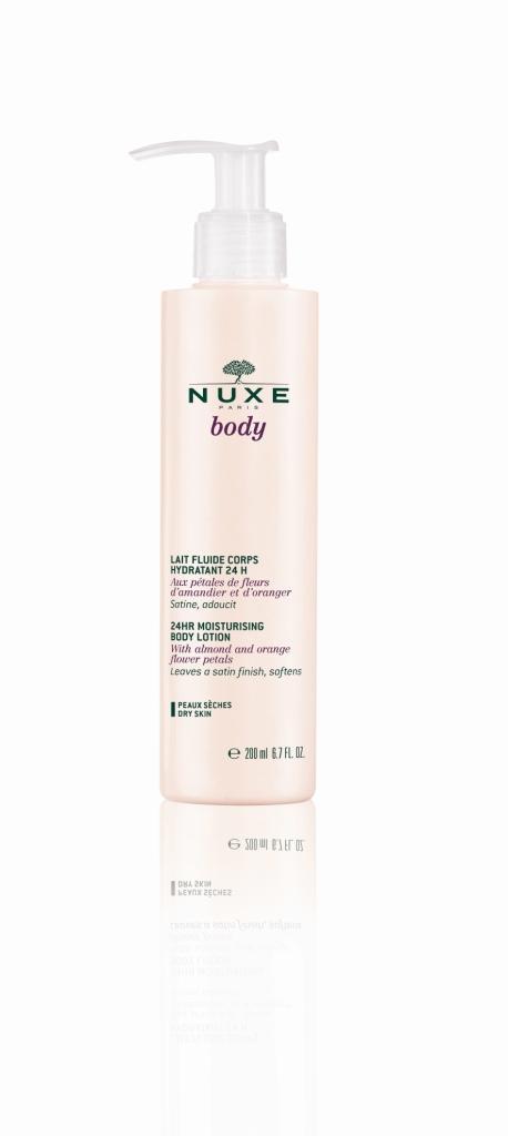 Нежное молочко для тела, увлажнение 24 часа, 200 мл (Nuxe, Nuxe body) nuxe body гоммаж для тела нежный 200 мл