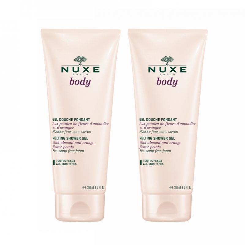 Нежный гель для душа 2 х 200 мл (Nuxe, Nuxe body) nuxe body гоммаж для тела нежный 200 мл