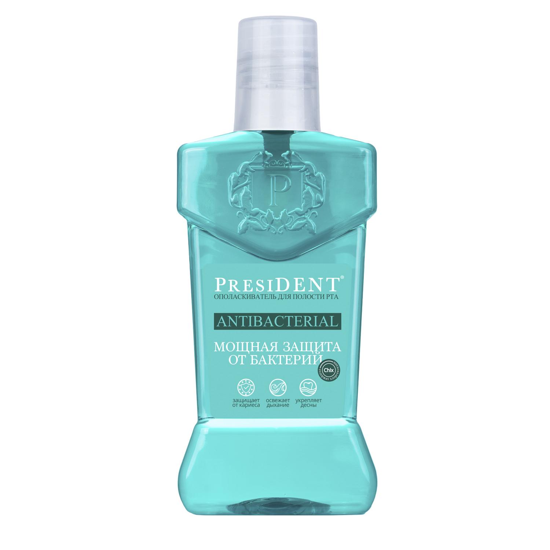 President Антибактериал ополаскиватель для полости рта 250 мл (President, Antibacterial)