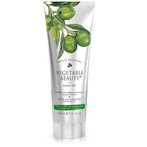 Купить Vegetable beauty Бальзам для волос восстанавливающий с маслом оливы, 200 мл (Vegetable beauty), Италия