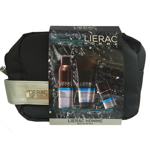 Дорожный набор для мужчин Lierac Homme (Lierac, Lierac Homme) гель крем lierac лиерак гель крем для усталой кожи восстанавливающий увлажняющий для мужчин туба 50 мл