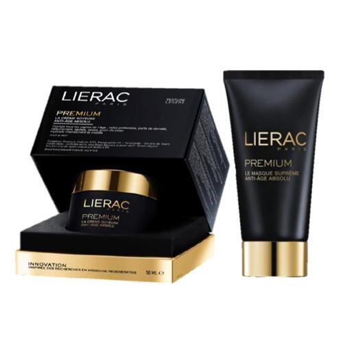 Lierac Премиум: Крем Бархатистая текстура 50 мл + Маска с гиалуроновой кислотой 75 мл (Premium)