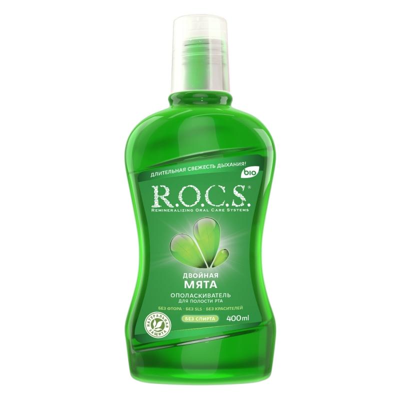 R.O.C.S Ополаскиватель для полости рта Двойная мята 400 мл (R.O.C.S, Спреи и Ополаскиватели)
