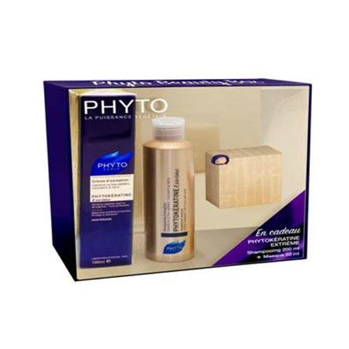 Phytosolba Набор Фитокератин Экстрем: Шампунь 200 мл + Крем для волос 100 мл + Маска 50 мл (Phytokeratine)