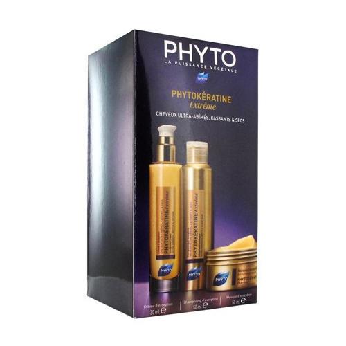 Набор Фитокератин Экстрем Шампунь 50 мл Маска для волос 50 мл Крем для волос 30 мл (Phyto, Phytokeratine) фитосольба фитокератин